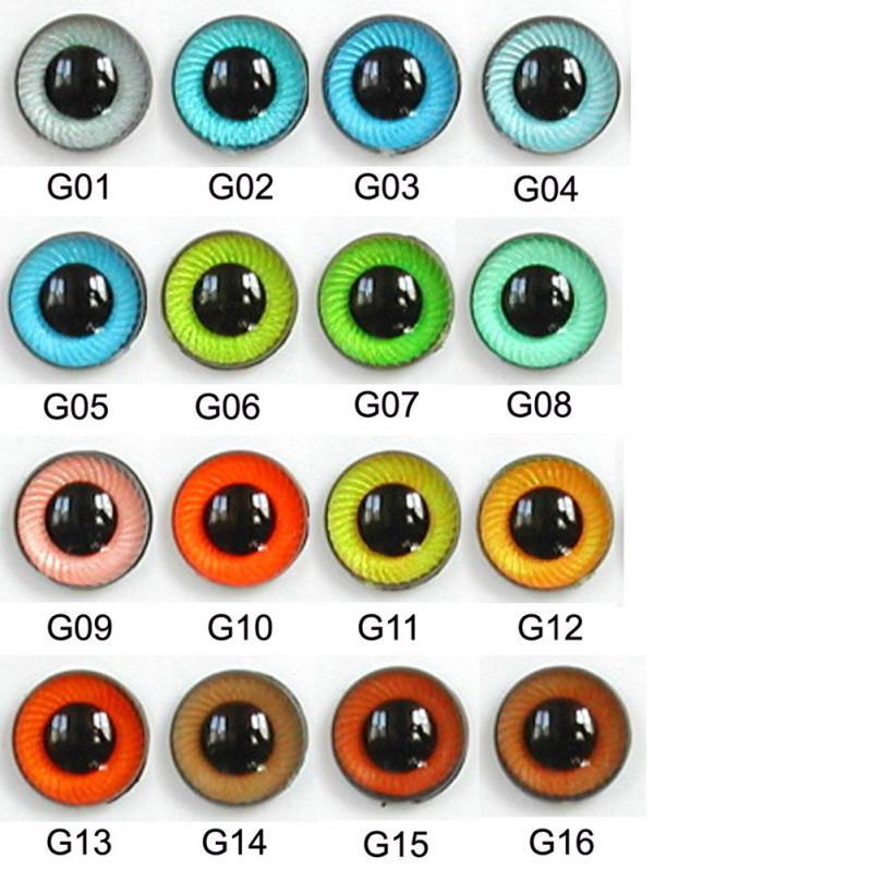 Article Ug 10mm 10 Pair Premium Sew On Eyes Plastic With Spiral Iris