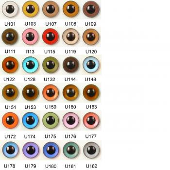 Image of Article U 12mm 10 Pair Premium Plastic Sew-On Eyes Mixed Colours
