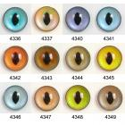 Image of Article WT 10mm 10 Pair Premium Plastic Eyes with Oval Pupils - Mixed Colours