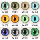 Image of Article W 10mm 10 Pair Plastic Safety Eyes Oval Pupils Mixed Colours