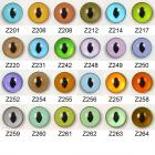 Image of Article Z 10mm 100 Pair Premium Plastic Sew-On Eyes Oval Pupil Mixed Colours