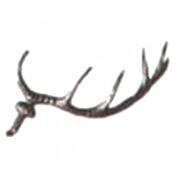 "Image of 25 Plastic Deer Antlers 37mm (1.45"") Article LE-N4"