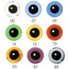 Image of Article LE2 4mm 10 Pair Glass Eyes On Wire Loop Mixed Colours